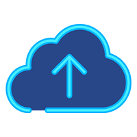 Small Box Cloud Storage Icon